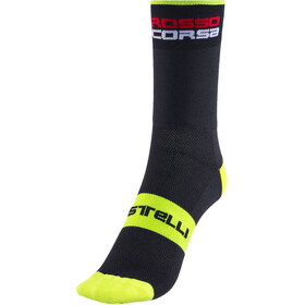 Castelli Rossocorsa 13 Socks black/yellow fluo